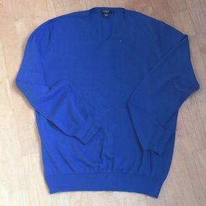 J.Crew💙men's blue Pima cotton sweater L